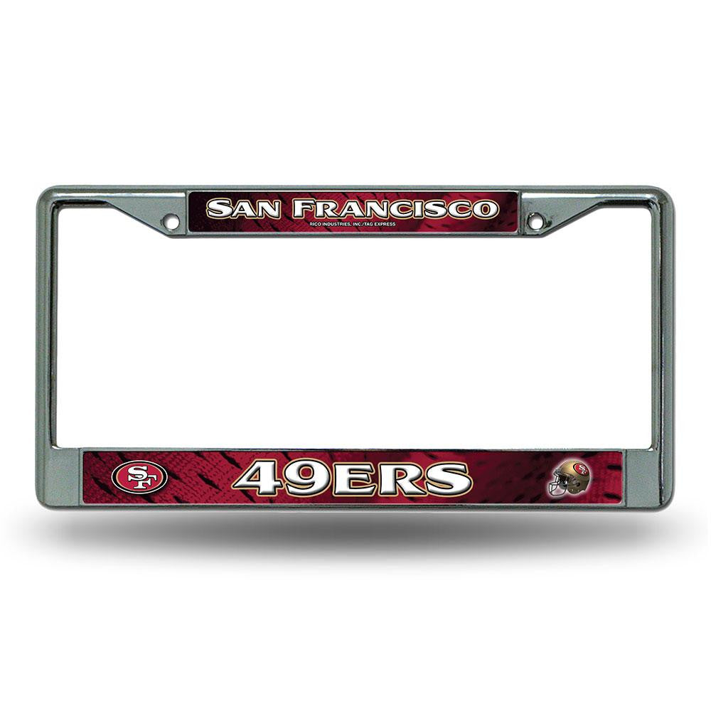 San Francisco 49ers NFL Chrome License Plate Frame