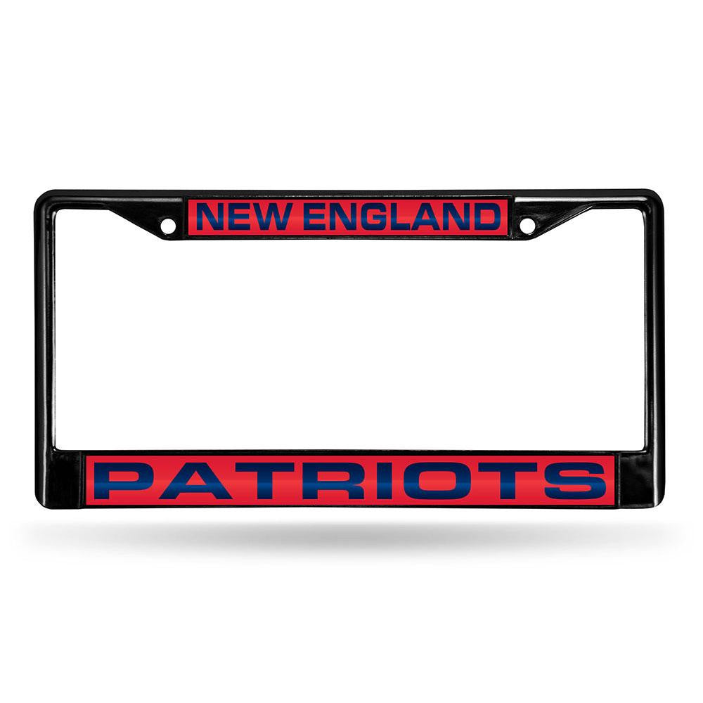 New England Patriots NFL Laser Cut Black License Plate Frame