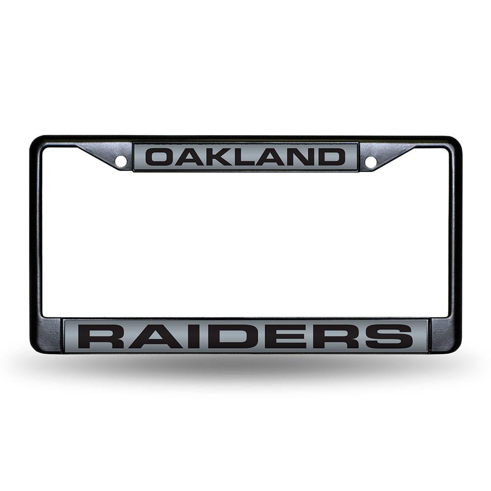 Oakland Raiders NFL Laser Cut Black License Plate Frame