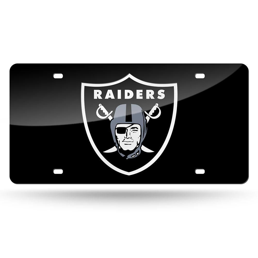 Oakland Raiders NFL Laser Cut License Plate Cover Colored