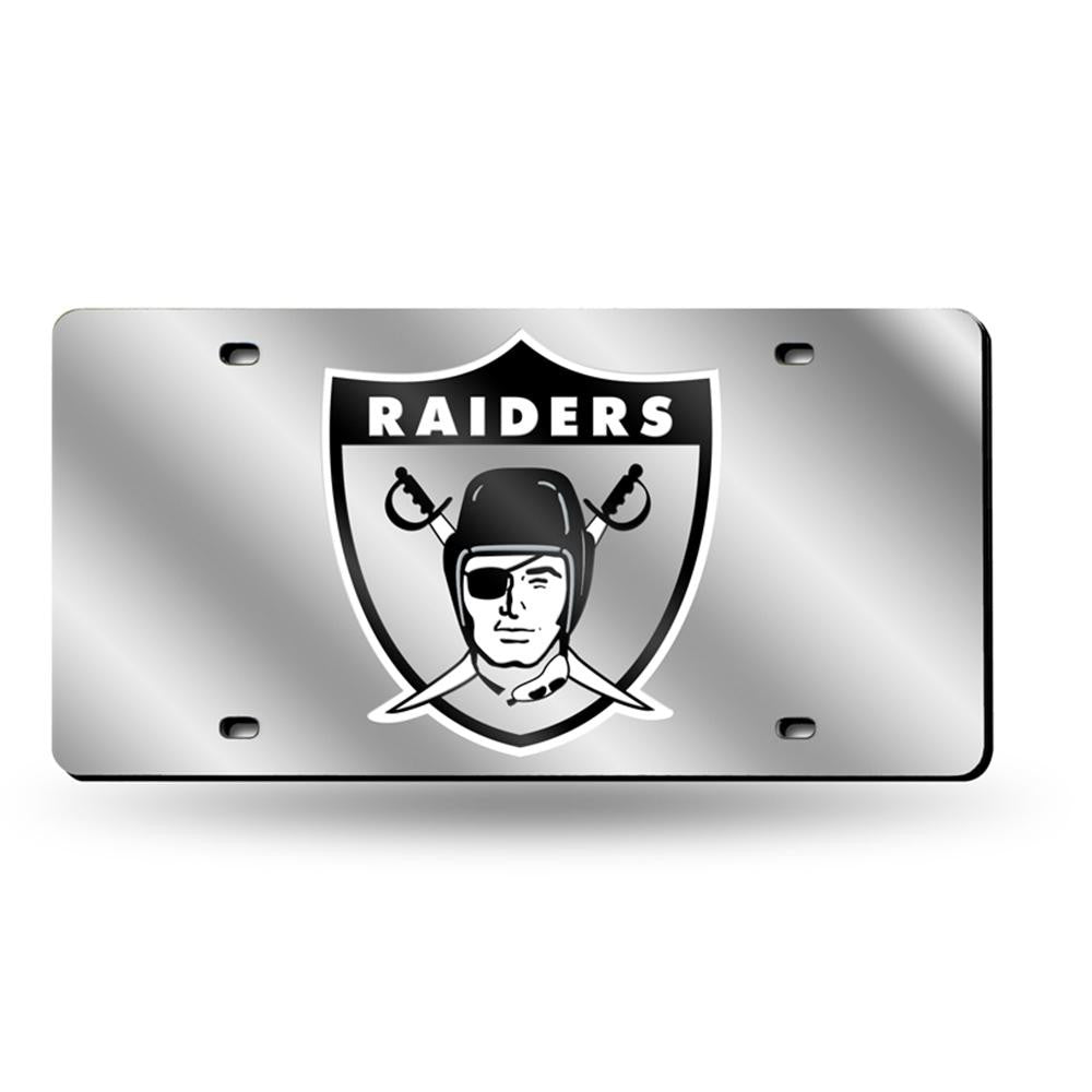 Oakland Raiders NFL Laser Cut License Plate Tag (Retro)