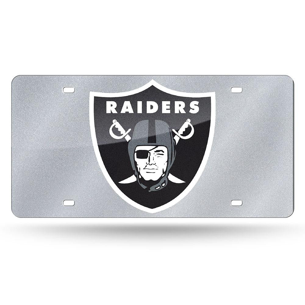 Oakland Raiders NFL Bling Laser Cut Plate Cover