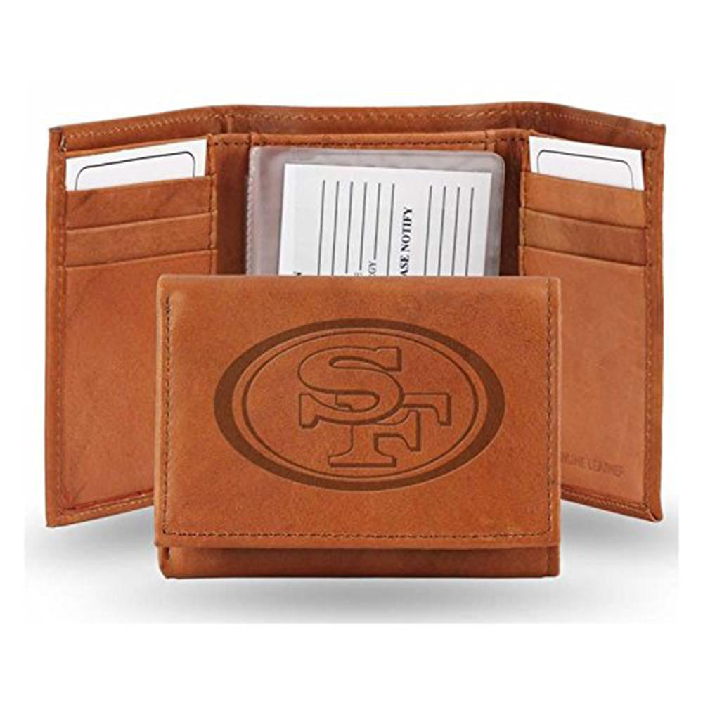 San Francisco 49ers NFL Manmade Leather Tri-Fold