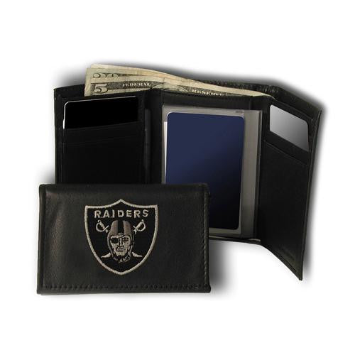 Oakland Raiders NFL Embroidered Trifold Wallet