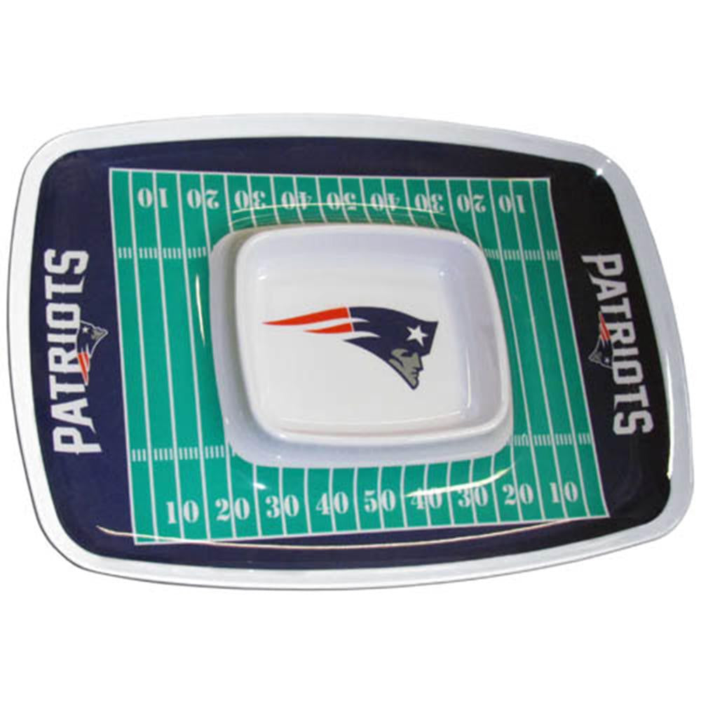 New England Patriots NFL Chip & Dip Tray