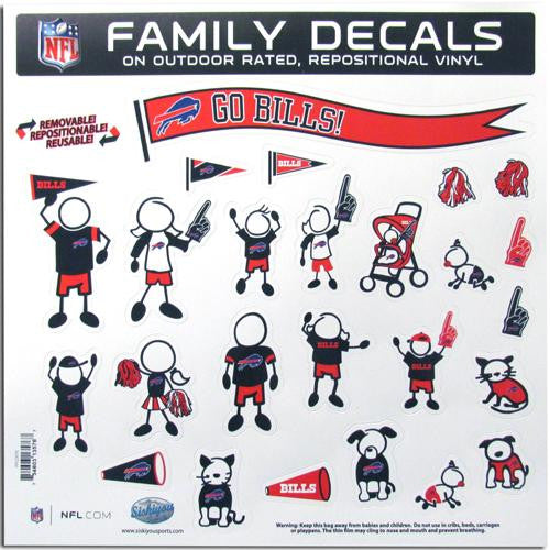 Buffalo Bills NFL Family Car Decal Set (Large)