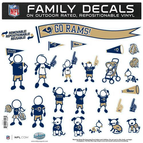 St. Louis Rams NFL Family Car Decal Set (Large)