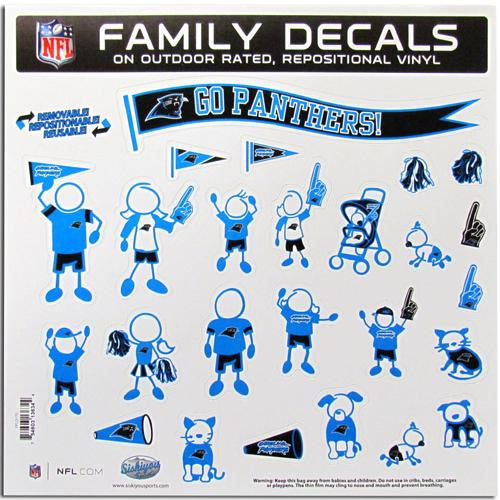 Carolina Panthers NFL Family Car Decal Set (Large)
