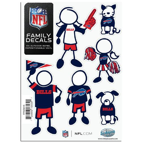Buffalo Bills NFL Family Car Decal Set (Small)
