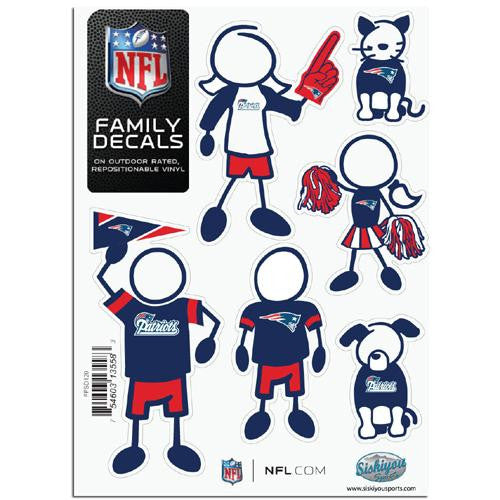 New England Patriots NFL Family Car Decal Set (Small)
