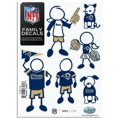 St. Louis Rams NFL Family Car Decal Set (Small)