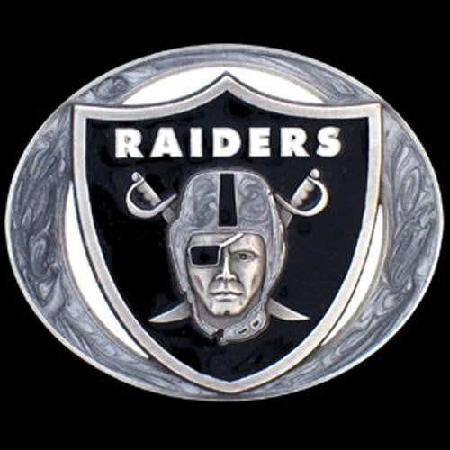 Oakland Raiders NFL Enameled Belt Buckle