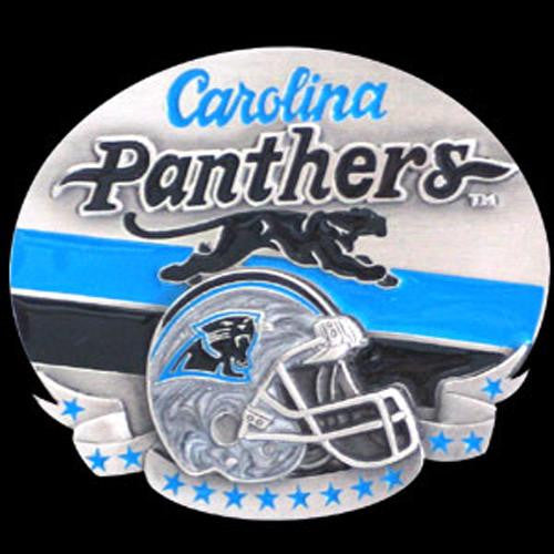 Carolina Panthers NFL Enameled Belt Buckle
