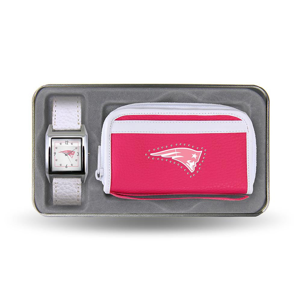 New England Patriots NFL Women's Watch and wallet Gift Set