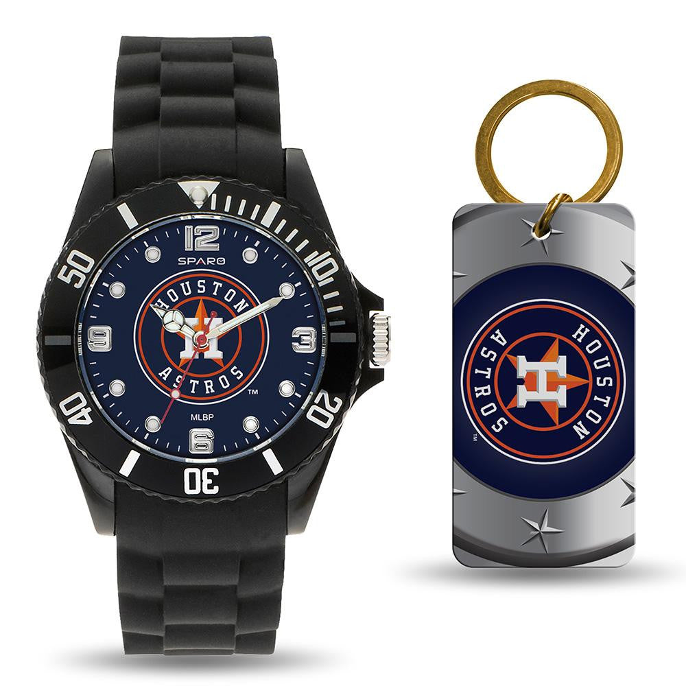Houston Astros MLB Watch and Keychain Gift Set