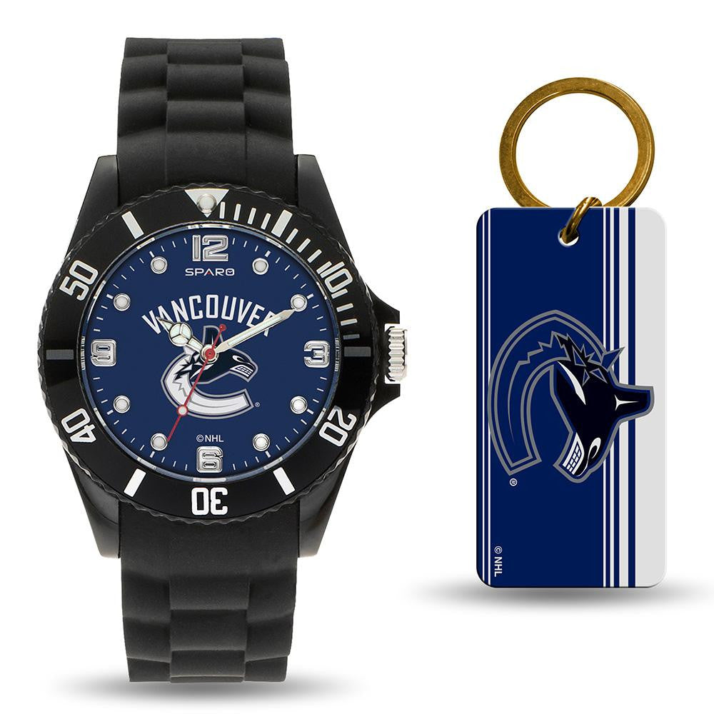 Vancouver Canucks NHL Watch and Keychain Gift Set