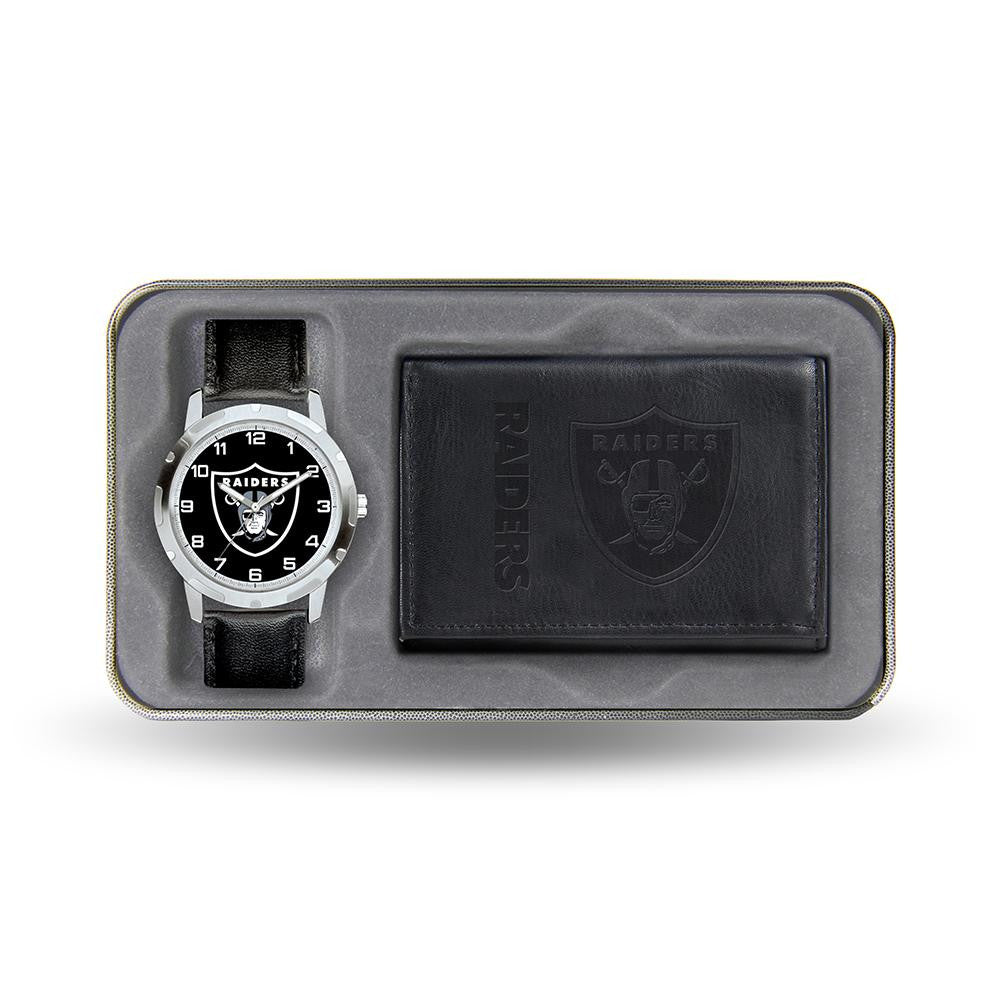 Oakland Raiders NFL Men's Watch & Wallet Gift Set xyz