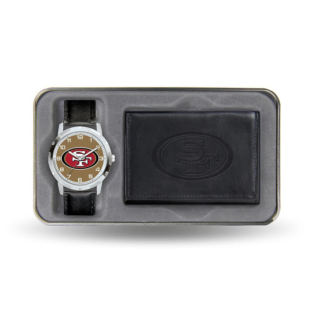 San Francisco 49ers NFL Men's Watch & Wallet Gift Set