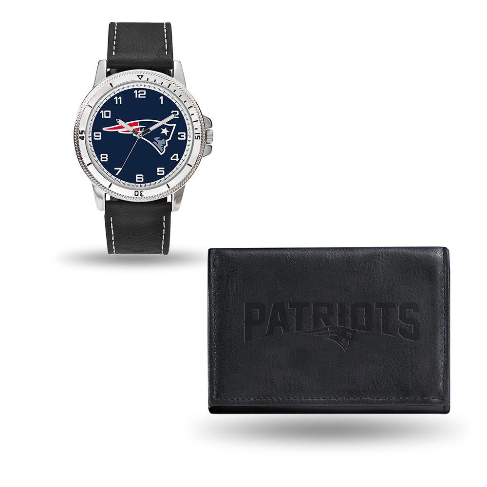 New England Patriots NFL Watch and Wallet Set (Chicago Watch) xyz
