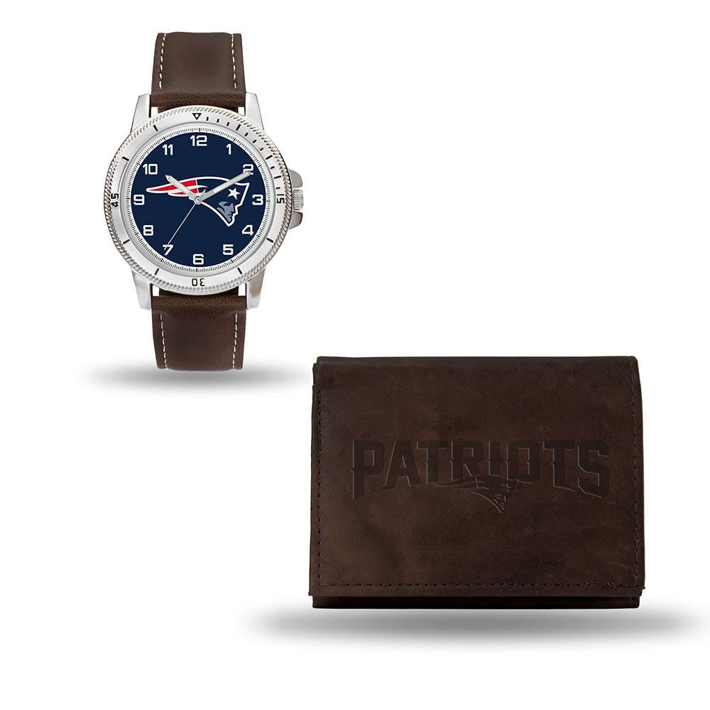 New England Patriots NFL Watch and Wallet Set (Niles Watch)