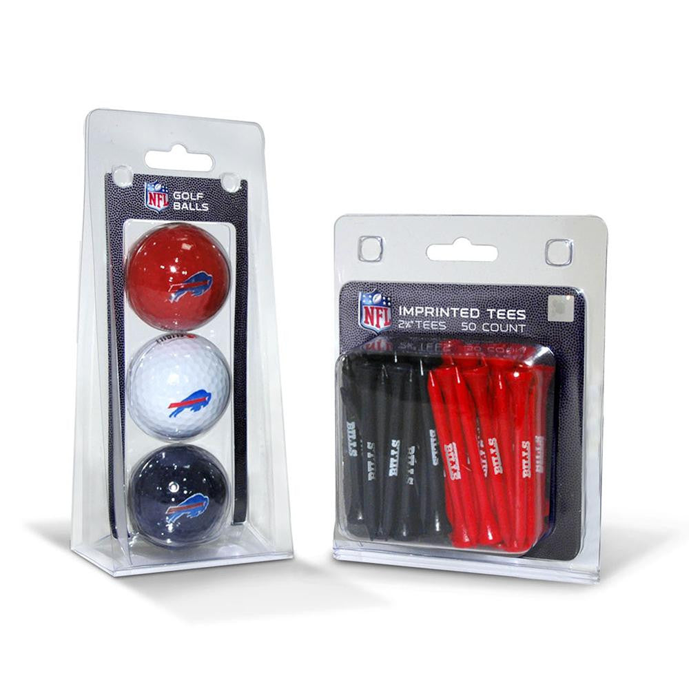 Buffalo Bills NFL 3 Ball Pack and 50 Tee Pack