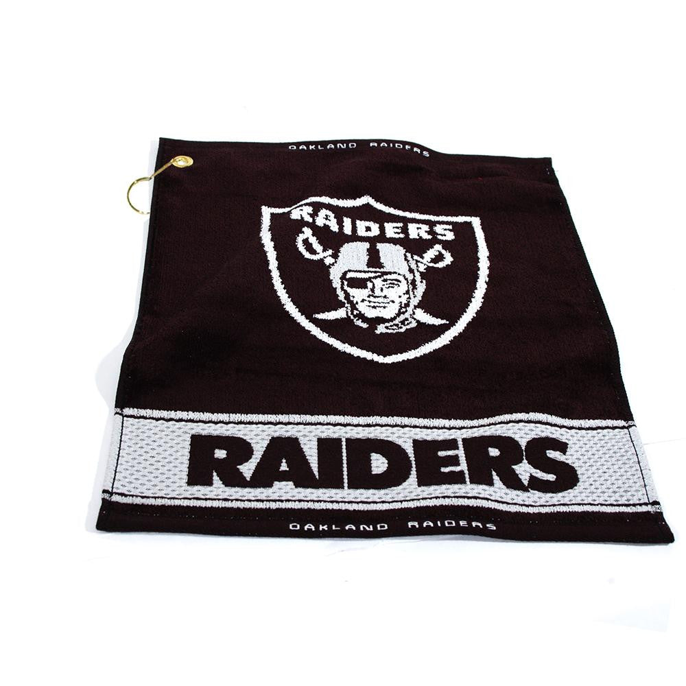Oakland Raiders NFL Woven Golf Towel