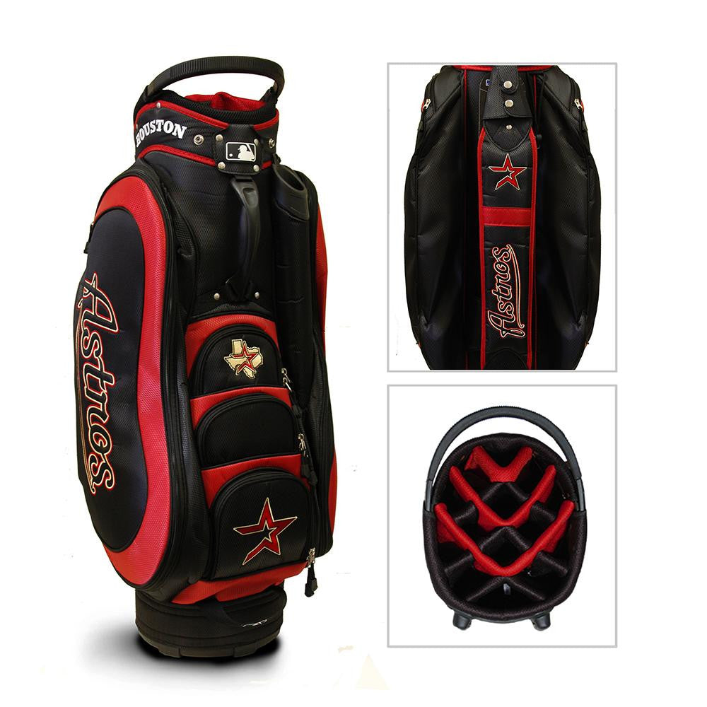 Houston Astros MLB Cart Bag - 14 way Medalist