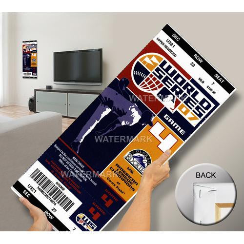 2007 World Series Mega Ticket - Colorado Rockies  (First World Series)