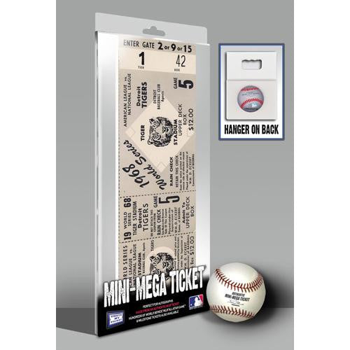1968 World Series Mini-Mega Ticket - Detroit Tigers