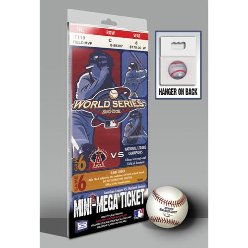 2002 World Series Mini-Mega Ticket - Los Angeles Angels