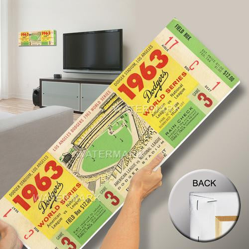 1963 World Series Mega Ticket - Los Angeles Dodgers