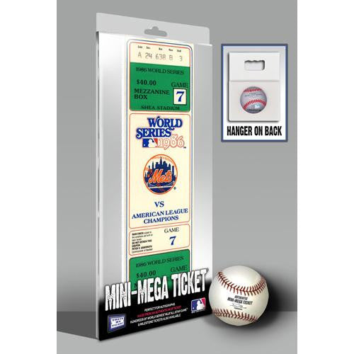 1986 World Series Game 7 Mini-Mega Ticket - New York Mets