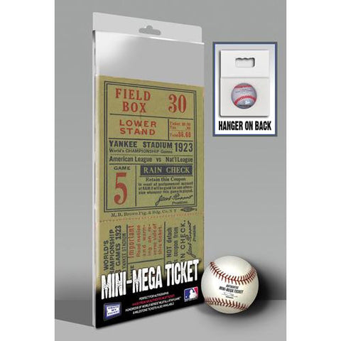 1923 World Series Mini-Mega Ticket - New York Yankees