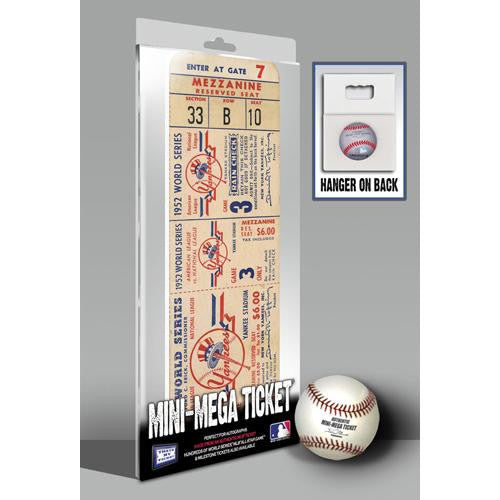 1952 World Series Mini-Mega Ticket - New York Yankees
