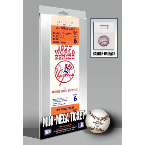 1977 World Series Mini-Mega Ticket - New York Yankees