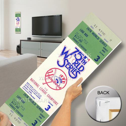 1978 World Series Mega Ticket - New York Yankees