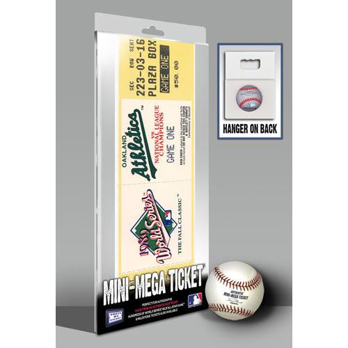 1989 World Series Mini-Mega Ticket - Oakland Athletics
