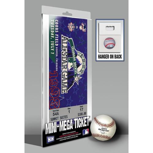 1998 MLB All-Star Game Mini-Mega Ticket - Colorado Rockies