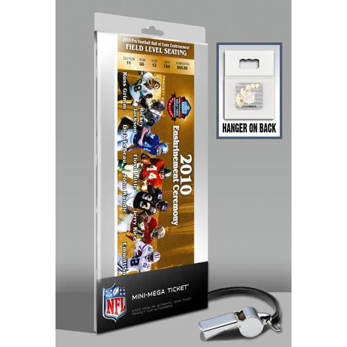2010 Pro Football Hall of Fame Enshrinement Ceremony Mini-Mega Ticket - Gold