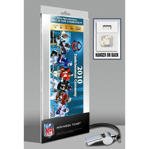 2010 Pro Football Hall of Fame Enshrinement Ceremony Mini-Mega Ticket - Blue