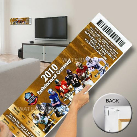 2010 Pro Football Hall of Fame Enshrinement Ceremony Mega Ticket - Gold