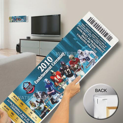 2010 Pro Football Hall of Fame Enshrinement Ceremony Mega Ticket - Blue