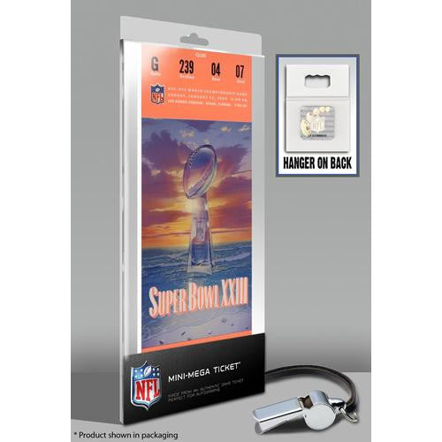 Super Bowl XXIII (23) Mini-Mega Ticket - San Francisco 49ers
