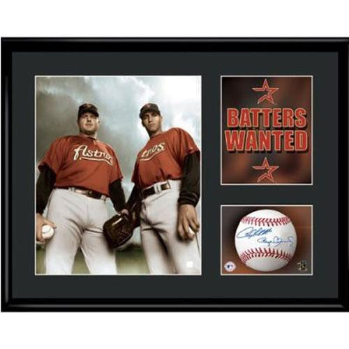 Houston Astros MLB Batters Wanted - Clemens & Pettite Limited Edition With Facsimile Signatures