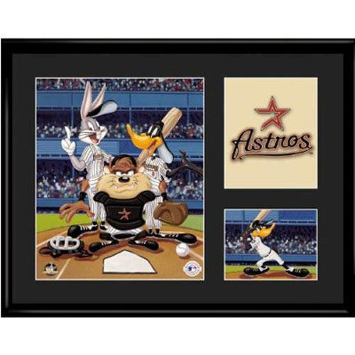 Houston Astros MLB Limited Edition Lithograph Featuring The Looney Tunes As Houston Astros