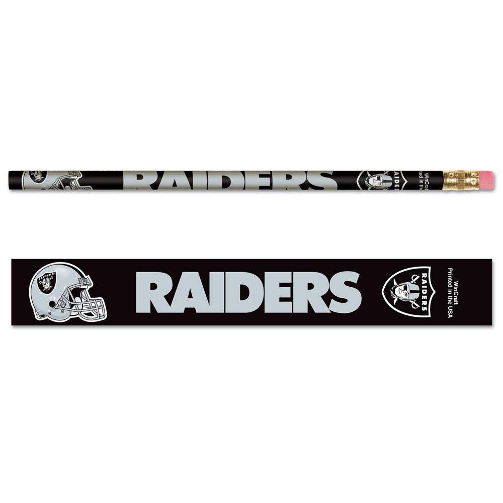 Oakland Raiders NFL Pencil 6-pack