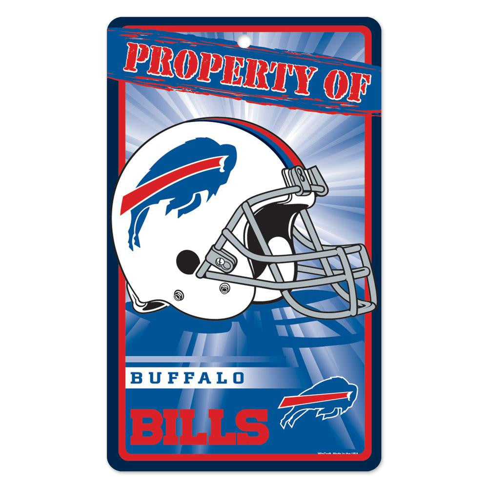 Buffalo Bills NFL Property Of Plastic Sign (7.25in x 12in)