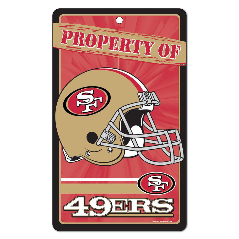 San Francisco 49ers NFL Property Of Plastic Sign (7.25in x 12in)