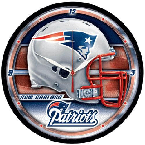 New England Patriots NFL Round Wall Clock