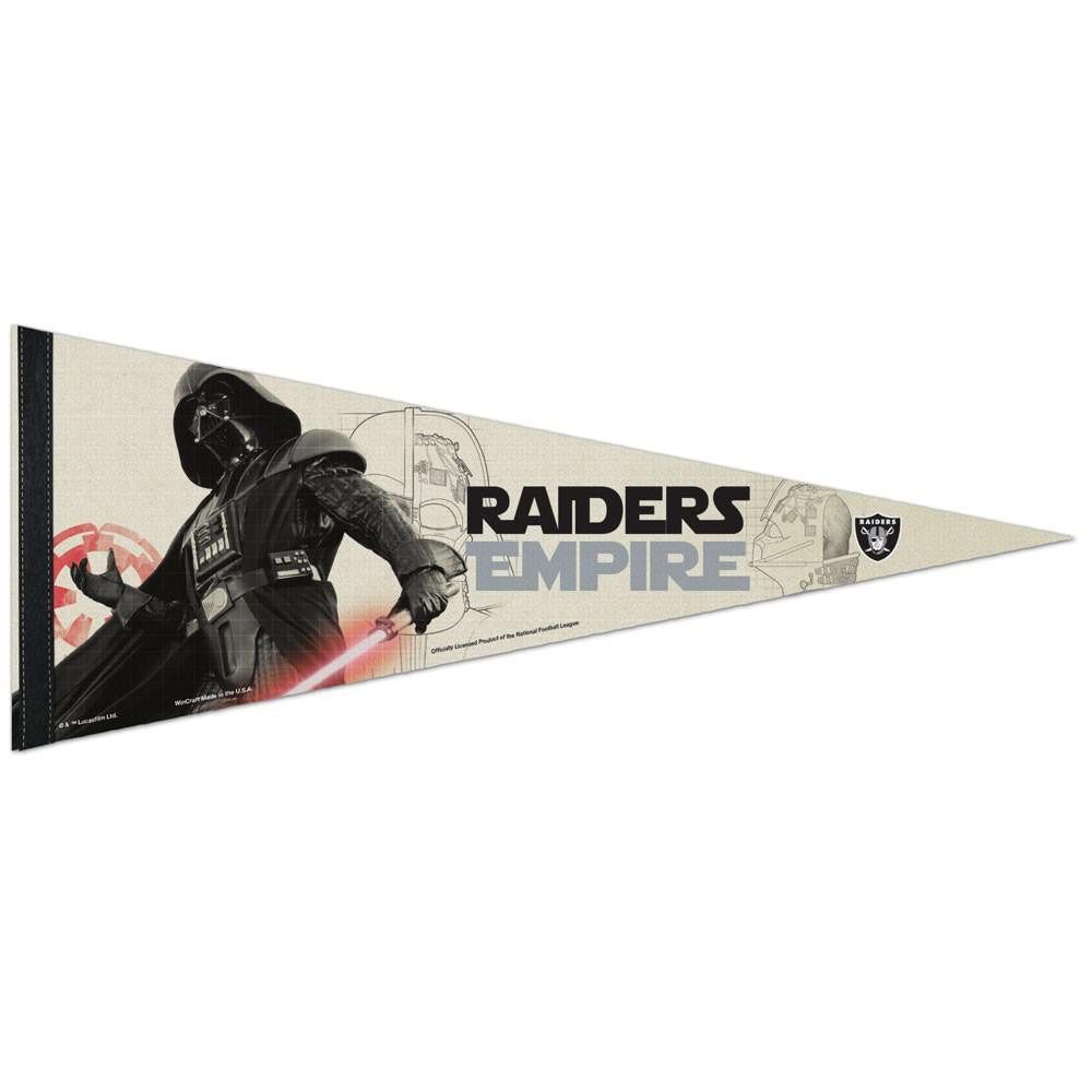 Oakland Raiders NFL Star Wars Darth Vader Premium Pennant (12in. x 30in.)